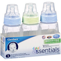 Nuk Gerber First Essential Clear View Bottle Slow Flow Silicone Boys - 5oz - 3pk