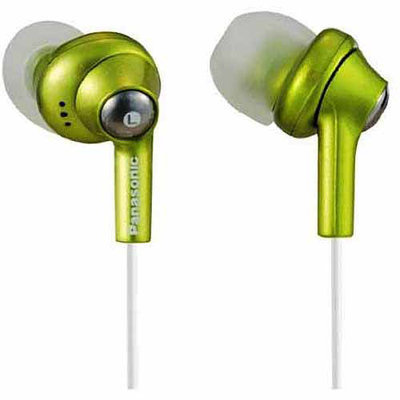 Panasonic Inner Ear Earbud Headphones with Extension, Green RP-HJE280