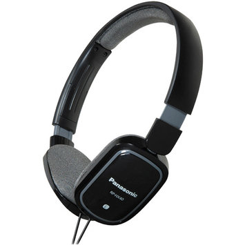 Panasonic RP-HXC40 Light Weight On Ear Monitors with iPhone Controller, Black