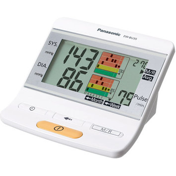 Panasonic EW-BU35W Upper Arm Blood Pressure Monitor, White