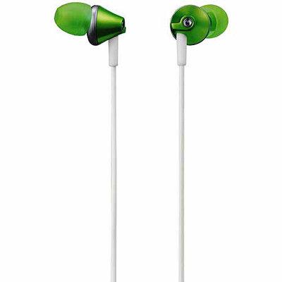 Panasonic RP-HJE295-G Deep Base Ergo-Fit Inner Ear Earbud Headphone Green