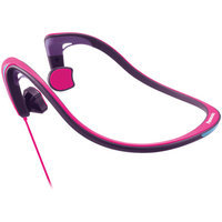 Panasonic Open-ear Bone Conduction Headphones With Reflective Design - Stereo - Pink - Wired - Behind-the-neck - Binaural - Open (rp-hgs10-p)