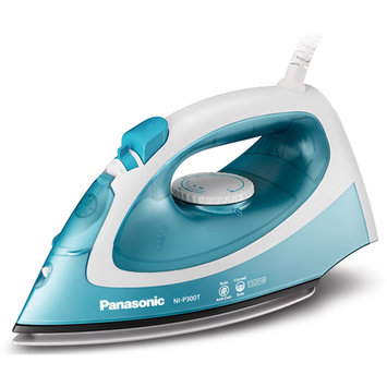 Panasonic Steam Iron Ni-p300t - Titanium Sole Plate - 6.76 Fl Oz Reservoir Capacity - 1780 W - Light Blue (nip300t)