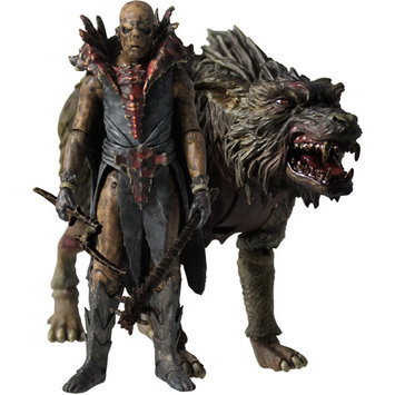 Bridge Direct The Hobbit 3 3/4-Inch Orc on Warg Beast Pack