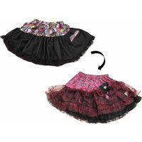 Xcessory International Monster High Petti Skirt - Hot Pink and Black