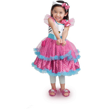 Xcessory International Hello Kitty Pink/Blue Role Play Dress with Layered Tulle Skirt