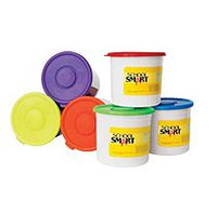 School Smart Modeling Dough Classroom Pack - 3.3 lb Buckets - 6 Colors