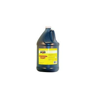 School Specialty School Smart Multi-Purpose Liquid Tempera Paint, 1 Gallon Plastic Bottle, Black