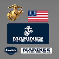 Military USMC Logo Wall Graphic