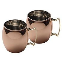 Mikasa Moscow Mule Solid Copper Mugs 2PK