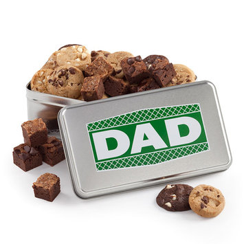 Mrs. Fields Father's Day Nibblers Cookie & Brownie Tin, 30ct