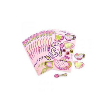 Fun Express Girly Tea Party Sticker Sheets (2 dz)