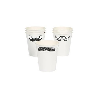 Cool Fun 3-5306 9 oz. PaPer Mustache Party Cups