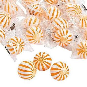 Fun Expres Orange Striped Hard Candy Balls
