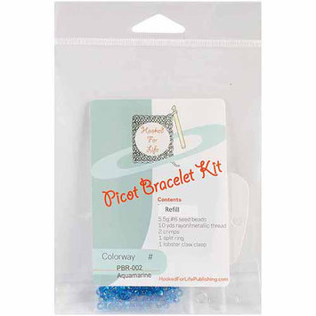 Mary Beth Temple Picot Bracelet Kit Refill-Aquamarine
