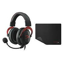 HyperX Cloud II Headset and Mouse Pad, Red