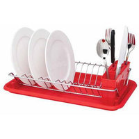Hds Trading Corp Hds Trading DD01999 Compact Dish Drainer Red