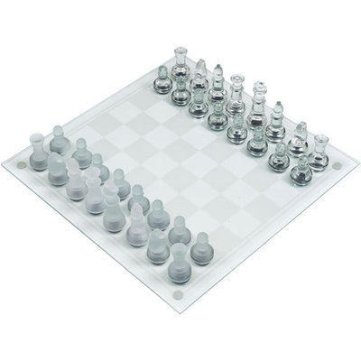 Trademark Games Deluxe Glass Chess Set