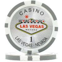 Trademark Poker 15-Gram Clay Laser Las Vegas Chips