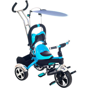 Trademark Global Games Convertible Stroller Tricycle Color: Blue