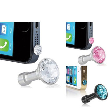 eForCity Headset Dust Cap Compatible With Sony Ericsson X8 Neo Play X10 (Clear / Pink / Blue Diamond)