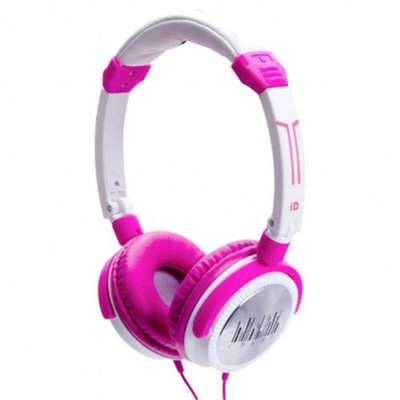 IDANCE CRAZY101 Portable Headphones - Pink - White