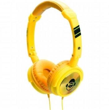 Idance JOCKEY100 Yellow Stereo Dj Headphone Mic Ip