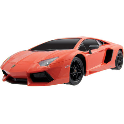 Kidz Tech 1:12 Scale Rechargeable Orange Lamborghini Advendator Remote Control Car