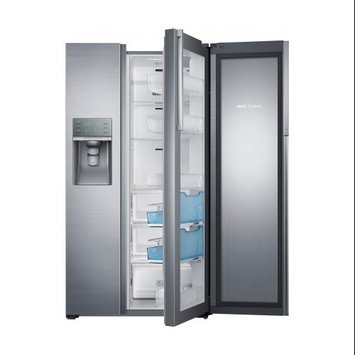 Samsung 21.5 cu. ft. Side by Side Refrigerator in Stainless Steel, Counter Depth Food Showcase Design RH22H9010SR