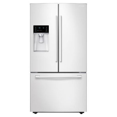 Samsung 22.5 cu. ft. French Door Refrigerator in White, Counter Depth RF23HCEDBWW