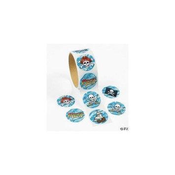 Fun Express 100 Pirate Stickers, 1 Roll