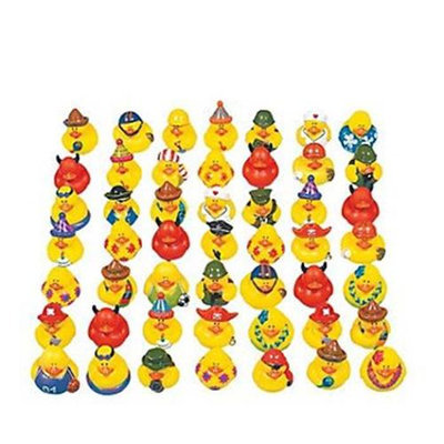 Fun Express Lot of 50 Assorted Rubber Ducks [Toy]