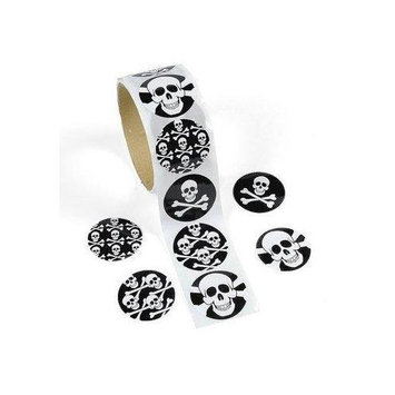 Fun Express Skull Roll of Stickers