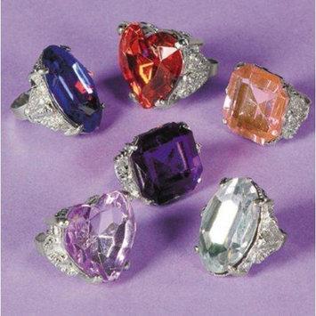 Fun Express Large Gemstone Like Rings (2 dz)