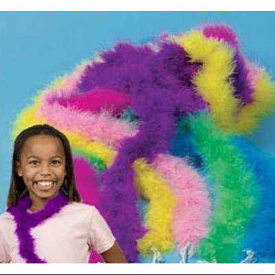 Fun Express Mini Marabou Dress Up Boas Assorted Colors (12)