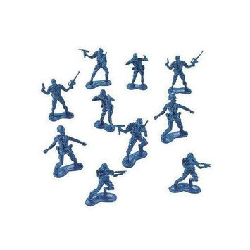 Fun Express BIG BAG OF BLUE ARMY PLASTIC TOY SOLDIERS - ARMY MEN! 144 Count.