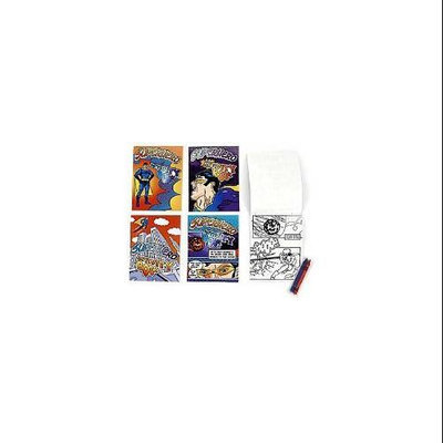 Fun Express BB019376 Superhero Coloring Activity Kit - 12 Count