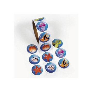 Fun Express TROPICAL SEA LIFE ROLL STICKERS (1 ROLL) - BULK