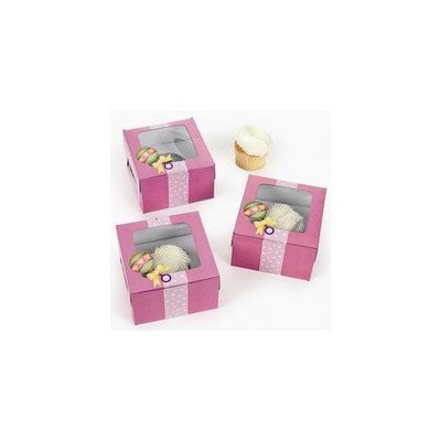 Fun Express Dozen Cardboard Baby Girl Shower Cupcake Boxes