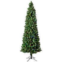 7 Ft Austrian Pine Color Changing Pre-lit Pencil Tree