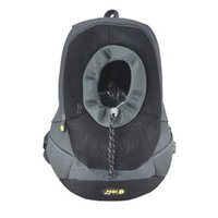 Wacky Paws WPC022-BK Sporty Backbag Pet Carrier Black Large