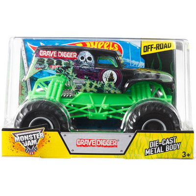 Mattel Hot Wheels Monster Jam Grave Digger 1:24 Scale Vehicle