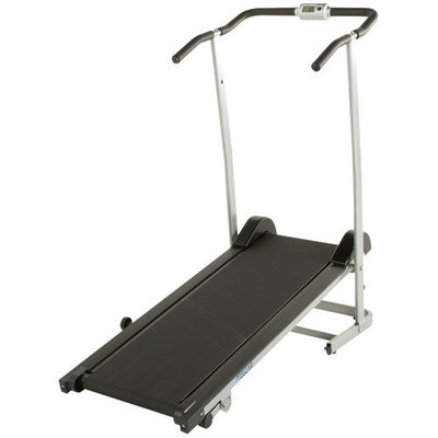 190 Space Saver Manual Treadmill with 2 Level Incline and Twin Flywheels