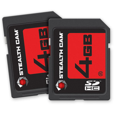 Stealth Cam 2 Pack SD Card 4GB ea