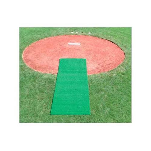 Athleticconnection Turf Pitcher's Mat w Foam Backing in Green