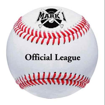 Athleticconnection Mark One Official Leather Cover League Baseballs - Dozen Count
