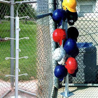 Athletic Connection Baseball Helmet Tree-Holds 12 Helmets-Mounts to Dugout Surface