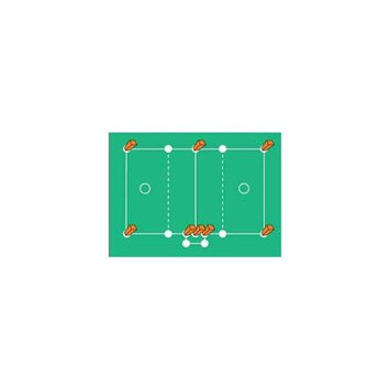 Athletic Connection Lacrosse Field Marking Set with Sockets, Plugs, Pylons