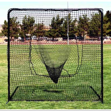 Fallline Corporation Square Portable Practice Screen w Sock Net in Black