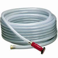 Athletic Connection Water Hose Ballpark Field Maintenance Clear, 50/75/100 Feet (100 ft.)